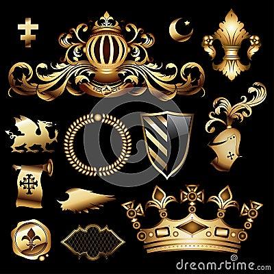Heraldic royal set