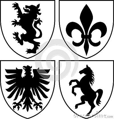 Heraldische Scheitel/Wappen