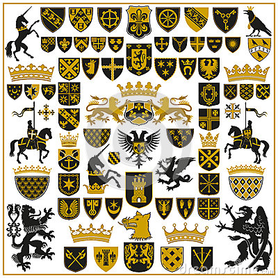 Free HERALDRY Crests And Symbols Stock Photography - 50167952
