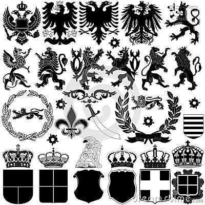 Free Heraldry Design Elements Stock Image - 32260531