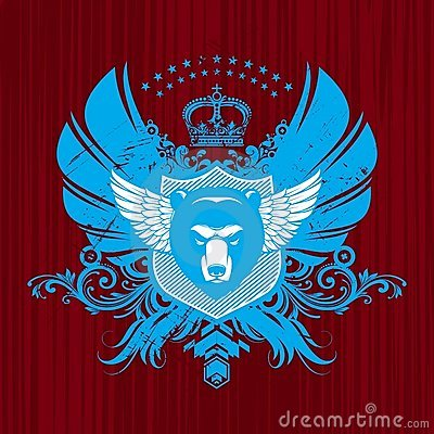 Free Heraldry With Bear Head Royalty Free Stock Image - 9881046