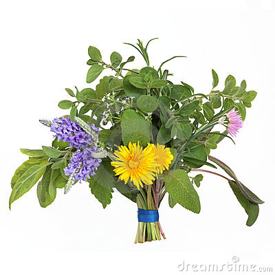 Herb and Flower Leaf Posy