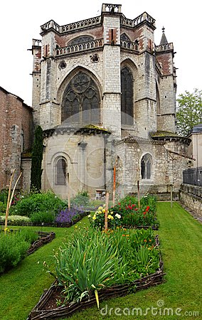 Ancient French cathedral herb garden