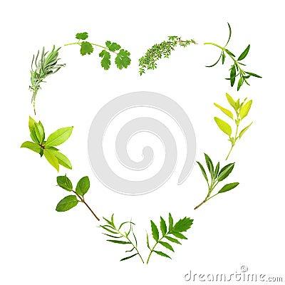 Herb Leaf Heart