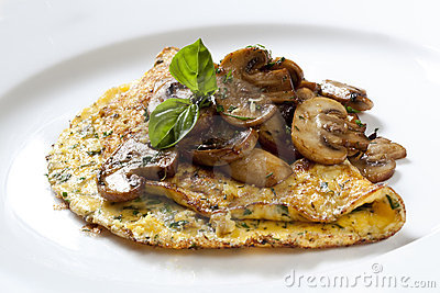 Herb and Mushroom Omelette