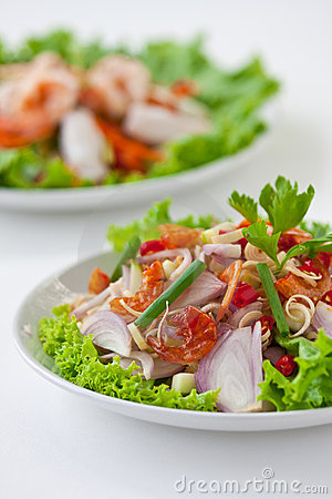 Herb salad ( Thai food)