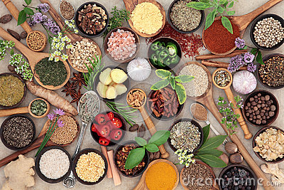 Herb and Spice Food Seasoning Stock Photo