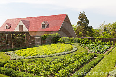 Herb vegetable and fruit garden