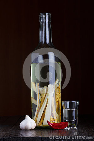 Herbal flavored vodka