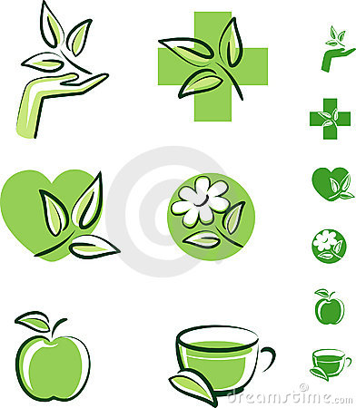 Free Herbal Icons Stock Image - 11289891