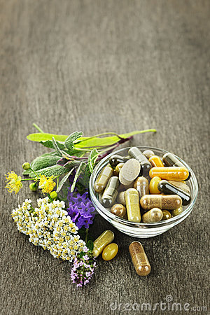 Free Herbal Medicine And Herbs Stock Photo - 21382170