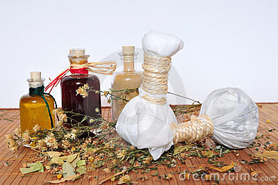 Herbal stamps massage oil