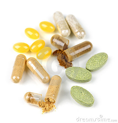 Free Herbal Supplement Pills Royalty Free Stock Images - 12779489