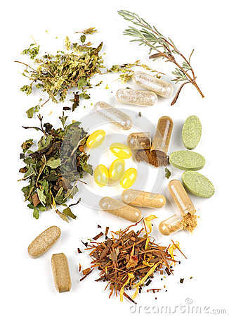 Free Herbal Supplement Pills Stock Photos - 12779543
