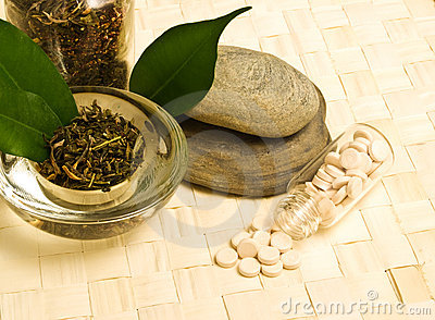 Herbal tea and tablets