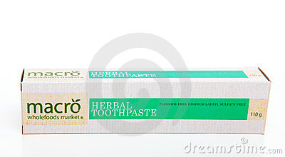 Herbal Toothpaste Editorial Photography