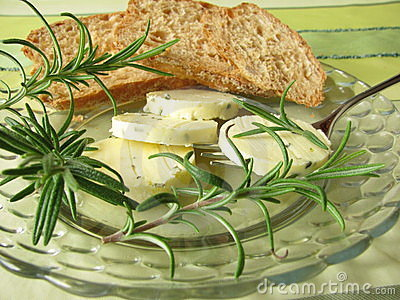 Herbs butter with rosemary