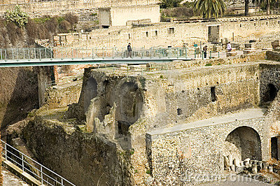 Herculaneum excavations 9, Naples, Italy