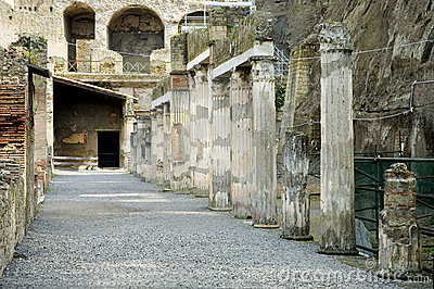 Herculaneum excavations, Naples, Italy
