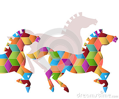 Herd of  Graphic Horses