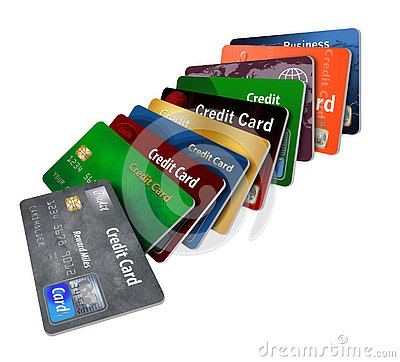 Free Here Is A Grouping Of Generic Credit Cards In A Designed Pattern. Royalty Free Stock Photo - 125300795