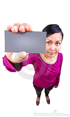 Free Here Is My Card! Stock Image - 4121711