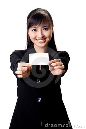 Free Here Is My Card Royalty Free Stock Photography - 6549557