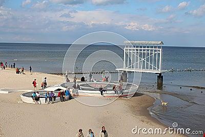 Heringsdorf stage - Germany Editorial Photo