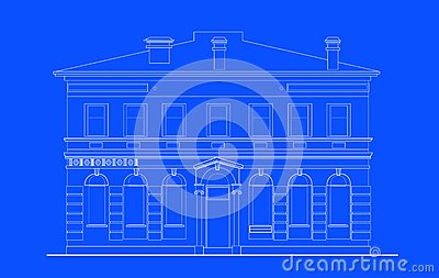 Heritage mansion building print