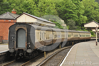 Heritage rail carriages, Llangollen