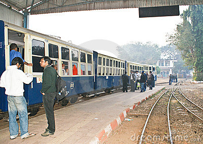 Heritage toy train of Matheran Railways in India. Editorial Photo