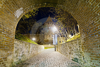 Hermannstadt at night