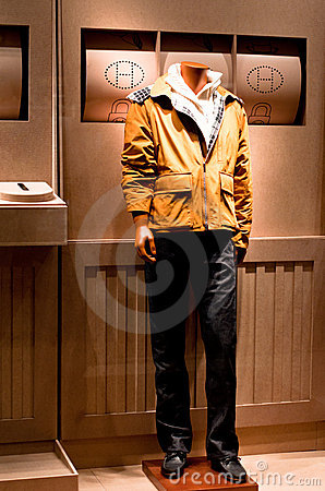Hermes Fashion Mannequin Display Editorial Stock Photo