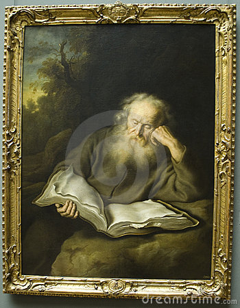 The Hermit by Salomon Koninck Editorial Image