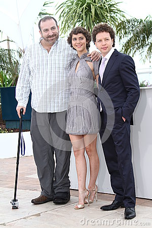 Hernan Mendoza, Tessa Ia and director Michel Fran Editorial Stock Photo