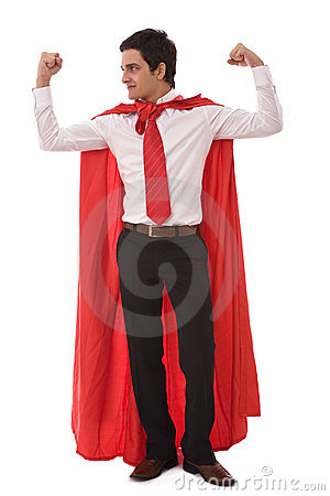 Hero businessman