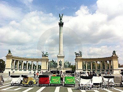 Hero s Square, Budapest Editorial Stock Image