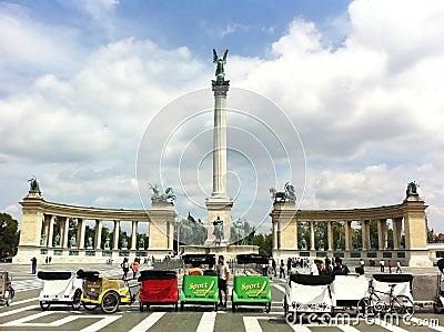 Hero s Square, Budapest Editorial Stock Image