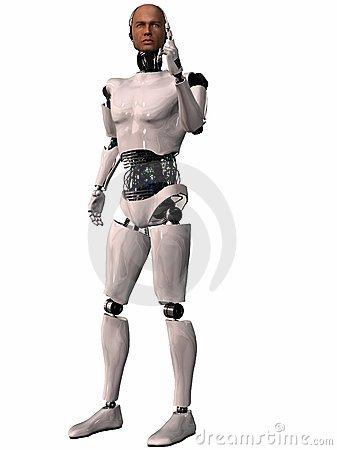 Herobot - 3D Figure Royalty Free Stock Photography - Image: 7018967