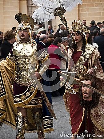 Herod and Herodias Editorial Photo