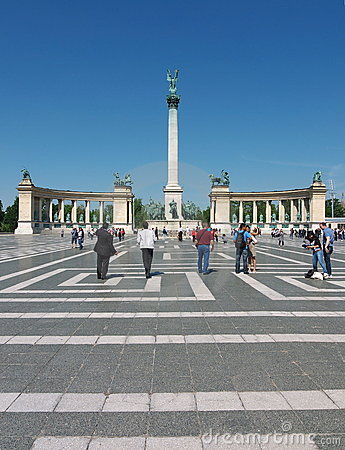Heroes  Square, Budapest, Hungary Editorial Stock Photo