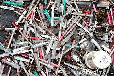 Heroin splashes Editorial Stock Photo