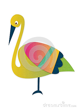 Heron made ​​of paper