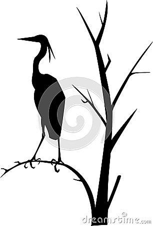 Heron. Vector illustration