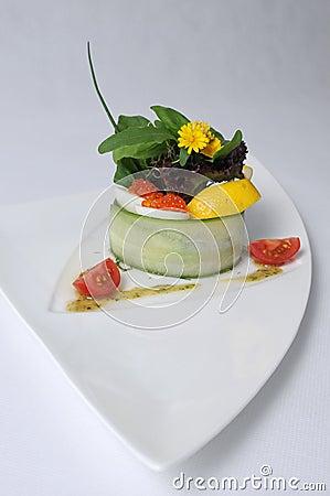 Herring with baltic caviar