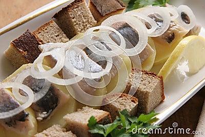 Herring with potatoes.