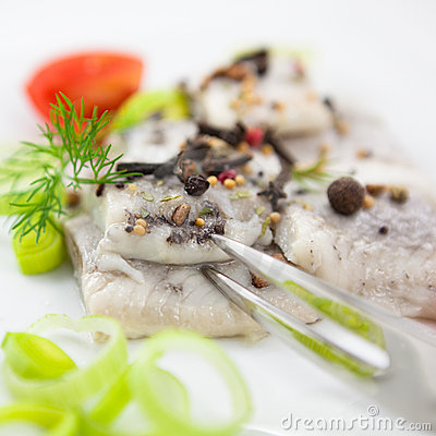 Herrings With Aromatic Spices Royalty Free Stock Photos - Image: 12381138