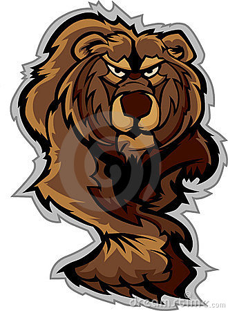 Herumstreichende Graubär-Bären-Maskottchen-Karosserie