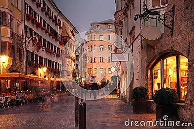 Herzog Friedrich Street in Innsbruck, Austria