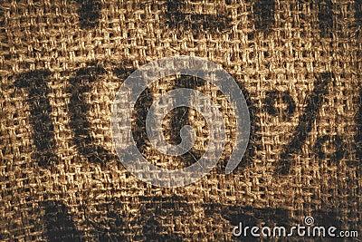 Hessian one hundred percent background